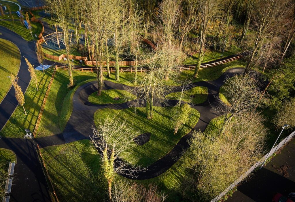 Aerial view of Shannon Town Park