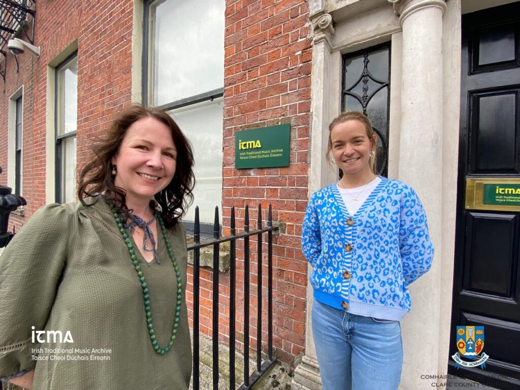 Nuala Kennedy and Tara Breen standing outside ITMA